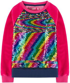 Desigual Velvet sweatshirt with reversible sequins