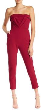 Adelyn Rae Malia Woven Strapless Jumpsuit