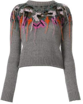 A.F.Vandevorst slim-fit embroidered knitted top