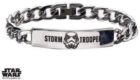 Star Wars Men's Stainless Steel Stormtrooper ID Curb Chain Bracelet