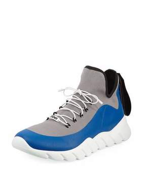 Fendi Vocabulary High-Top Scuba Sneaker