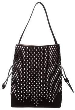 Alaia Studded Suede Bucket Bag