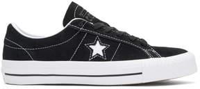 Converse Black Suede One Star Skate Sneakers
