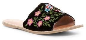 Rebels Bertie Leather Embroidered Slide Sandal