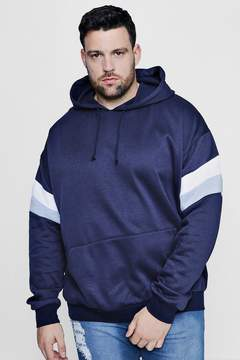 boohoo Big And Tall Colour Block Over The Head Hoodie