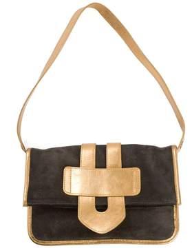 Tila March Grey Suede Handbag