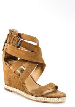 Dolce Vita Camel Brown Suede Kova Wedges Size 10 $150 NEW IN BOX 22529