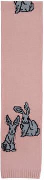 Prada Pink Rabbits Scarf