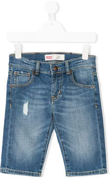 Levi's Kids distressed denim shorts