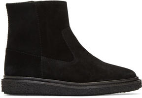 Isabel Marant Black Suede Connor Creeper Boots