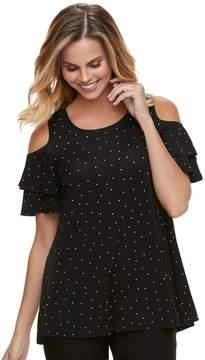 Elle Women's Cold-Shoulder Flounce Tunic
