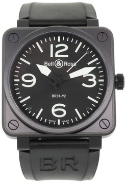 Bell & Ross Carbon BR01-92 Stainless Steel PVD Automatic 46mm Mens Watch