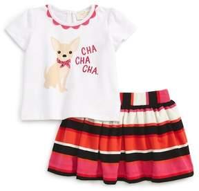 Kate Spade cha cha cha shirt & skirt set (Baby Girls)