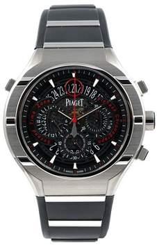 Piaget Protocol Flyback GMT Black Dial Titanium Rubber Strap Men's Watch GOA35001
