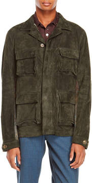 Missoni Knit Paneled Leather Field Jacket