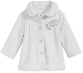 First Impressions Collared Microfleece Coat, Baby Girls (0-24 months), Created for Macy's