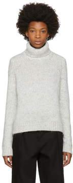 Moncler White Wool and Alpaca Turtleneck