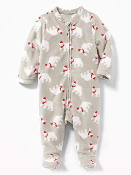 Old Navy Patterned Performance Fleece Footed One-Piece for Baby
