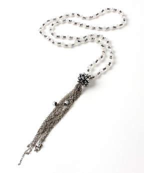 Amrita Singh Silvertone Esther Tassel Necklace