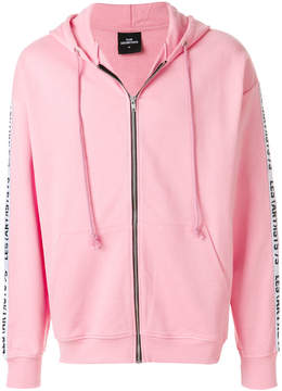 Les (Art)ists logo sleeve zipped hoody