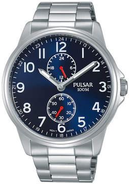 Pulsar Mens Silver Tone Bracelet Watch-P3a001x