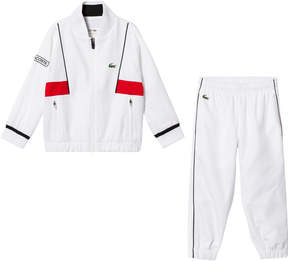 Lacoste White and Red Tennis Tracksuit