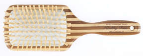 Olivia Garden Healthy Hair Eco-Friendly Bamboo Ionic Massage Large Paddle Brush