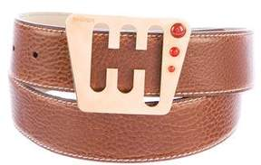 Escada Leather Buckle Belt