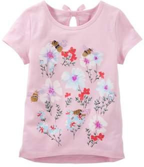 Osh Kosh Girls 4-8 Bumblebee Garden Graphic Tee