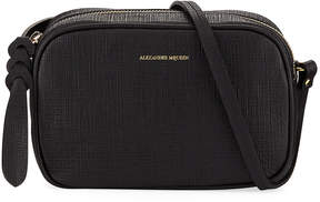 Alexander McQueen Small Textured Leather Camera Bag, Black