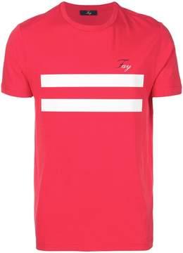 Fay stripe print T-shirt