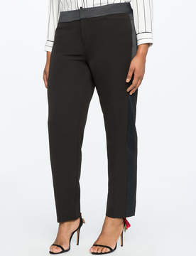 ELOQUII Skinny Leg Satin Side Stripe Trouser