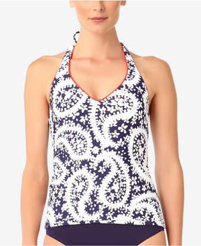 Anne Cole Paisley-Print Halter Tankini Top Women's Swimsuit
