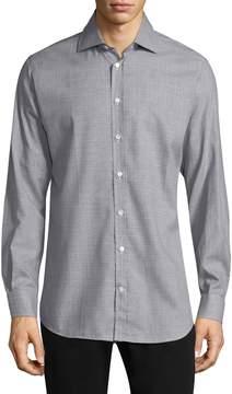 Luciano Barbera Men's Buttoned Print Sportshirt
