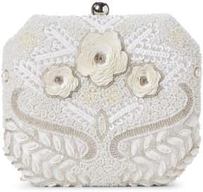 La Regale Ivory Beaded Floral Convertible Clutch