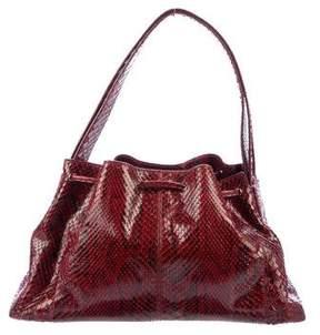 Tod's Python Drawstring Handle Bag