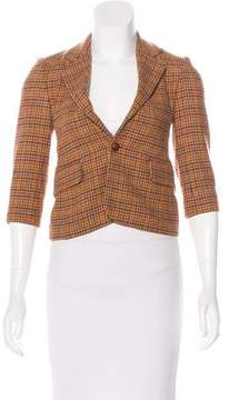 Papo d'Anjo Girls' Wool Houndstooth Blazer