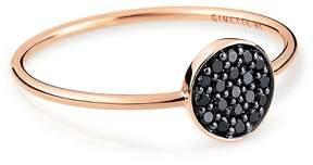 ginette_ny Mini Black Diamond Ever Disc Ring