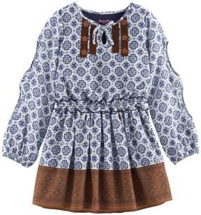 Nannette Girls 4-6x Printed Chiffon Dress