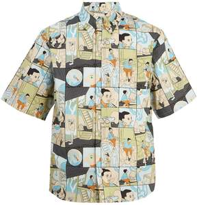 Prada Home-print cotton-poplin shirt