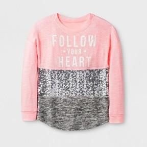 Miss Chievous Girls' Long Sleeve Sweatshirt - Coral