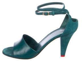 Celine Leather Lace-Up Sandals