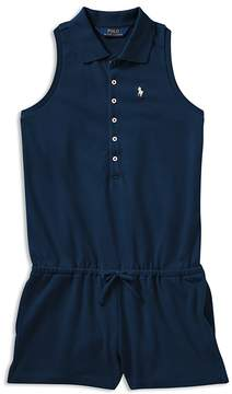 Polo Ralph Lauren Girls' Polo Romper - Big Kid