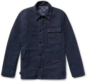 Co Fabric-Brand & Fleece-Back Cotton Deck Jacket