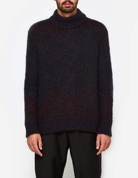 Jil Sander Crew Neck LS Sweater in Open Red