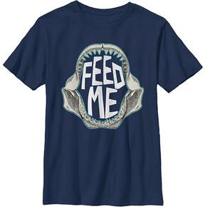 Fifth Sun Navy 'Feed Me' Jaws Crewneck Tee - Boys