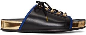 Balmain Black Lace-Up Sandals