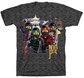 Lego Boys' Ninjago Short Sleeve T-Shirt - Charcoal
