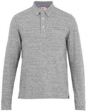 Faherty Point-collar long-sleeved cotton-blend polo