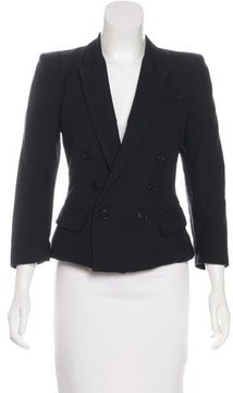Band Of Outsiders Peak-Lapel Button-Up Blazer